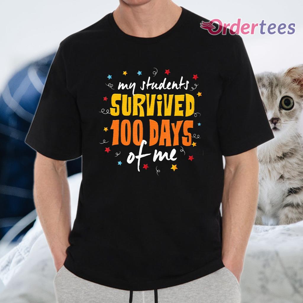100 Days Of School Teacher T-Shirt - 1