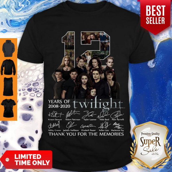 12 Years Of 2008 2020 Twilight Thank You For The Memories Signatures Shirt - 1