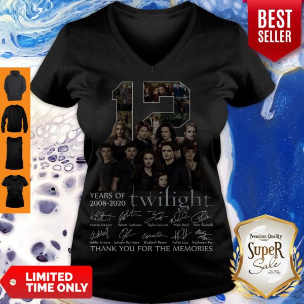 12 Years Of 2008 2020 Twilight Thank You For The Memories Signatures Shirt - 2