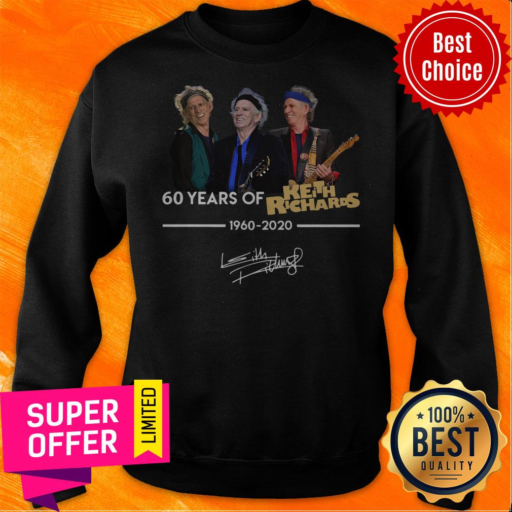Funny 60 Years Of Keith Richards 1960 2020 Signature Shirt - 2