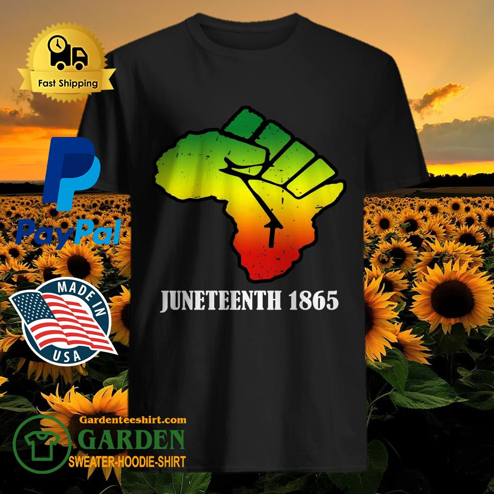 Africa Black Lives Matter Juneteenth 1865 shirt - 1