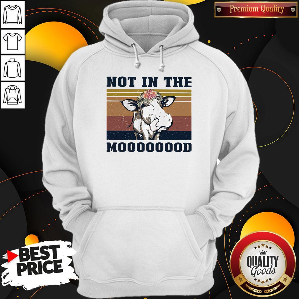 Nice Cow Not In The Mooood Vintage Retro Shirt - 2