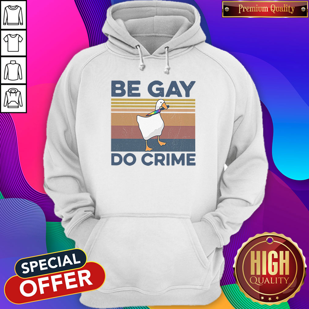 Official Duck Be Gay Do Crime Vintage Shirt - 5