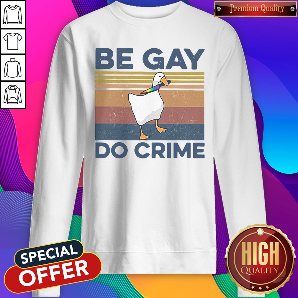 Official Duck Be Gay Do Crime Vintage Shirt - 3