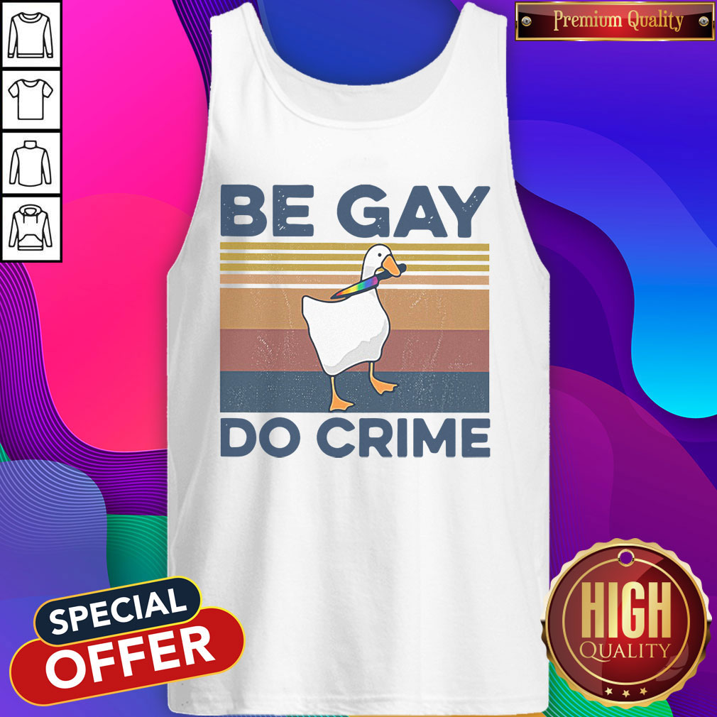 Official Duck Be Gay Do Crime Vintage Shirt - 2