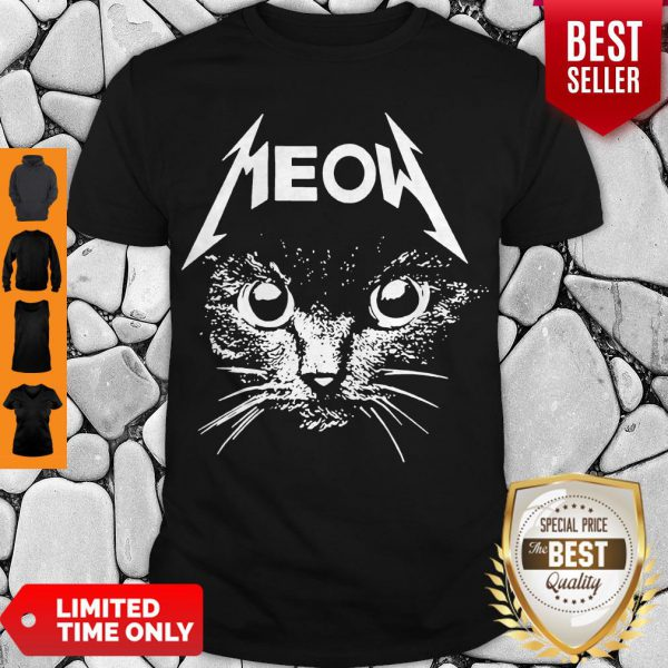 Official Great Metallica Meowtalica Black Cat Shirt - 1