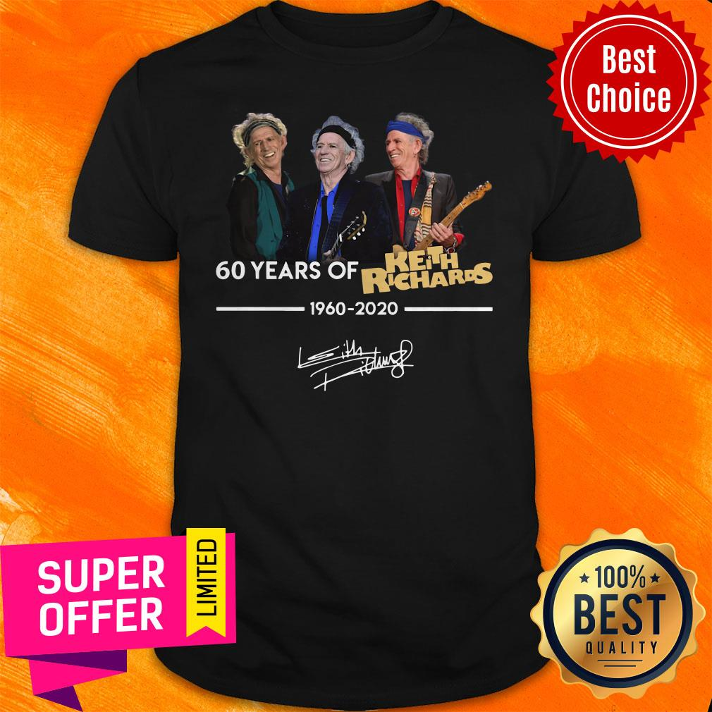 Funny 60 Years Of Keith Richards 1960 2020 Signature Shirt - 1