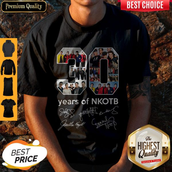 Top 30 Years Of Nkotb Signatures Shirt - 1