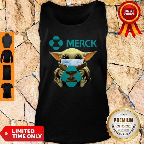 Top Star Wars Baby Yoda Mask Merck Coronavirus Shirt - 4