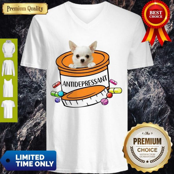 Pretty White Chihuahua Antidepressant T-Shirt - 2