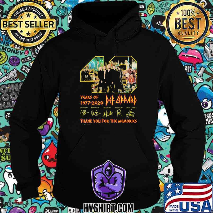 48 years of 1977 2020 def leppard thank for the memories shirt