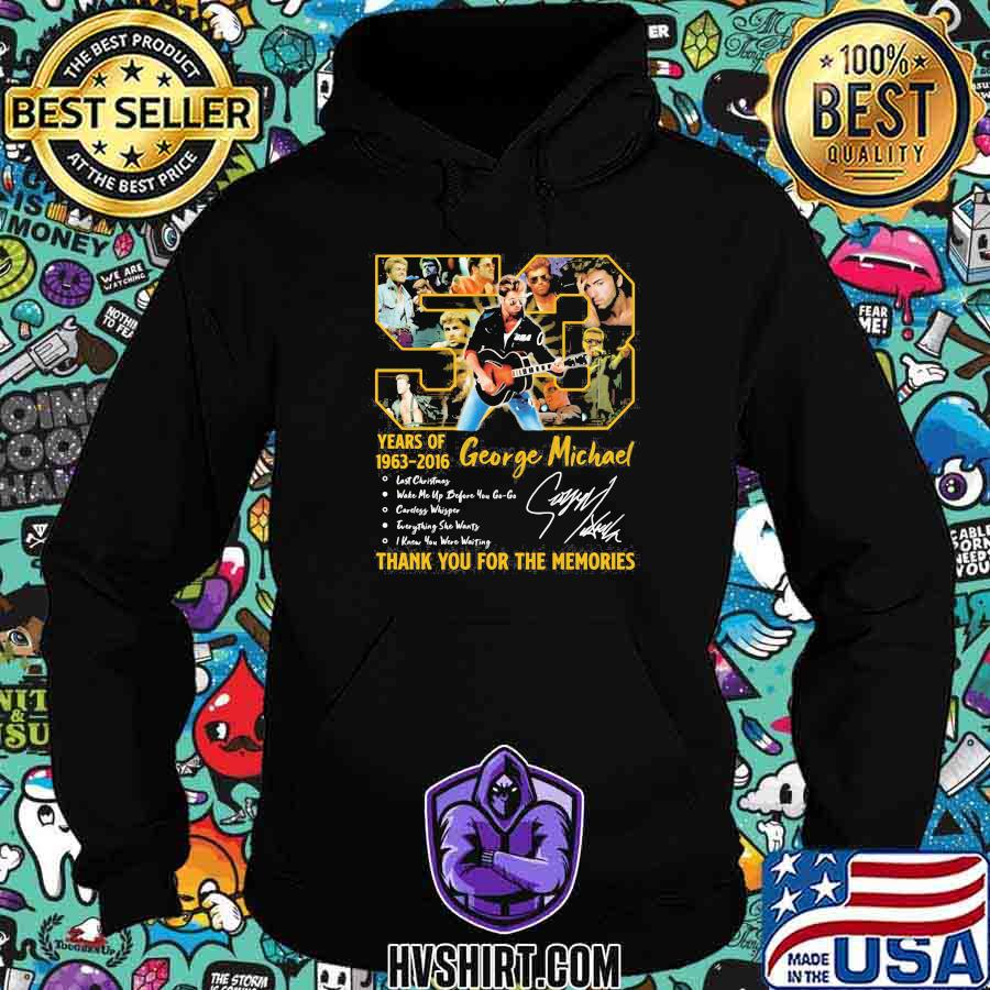 50 years of 1963 2016 george michael thank for the memories shirt