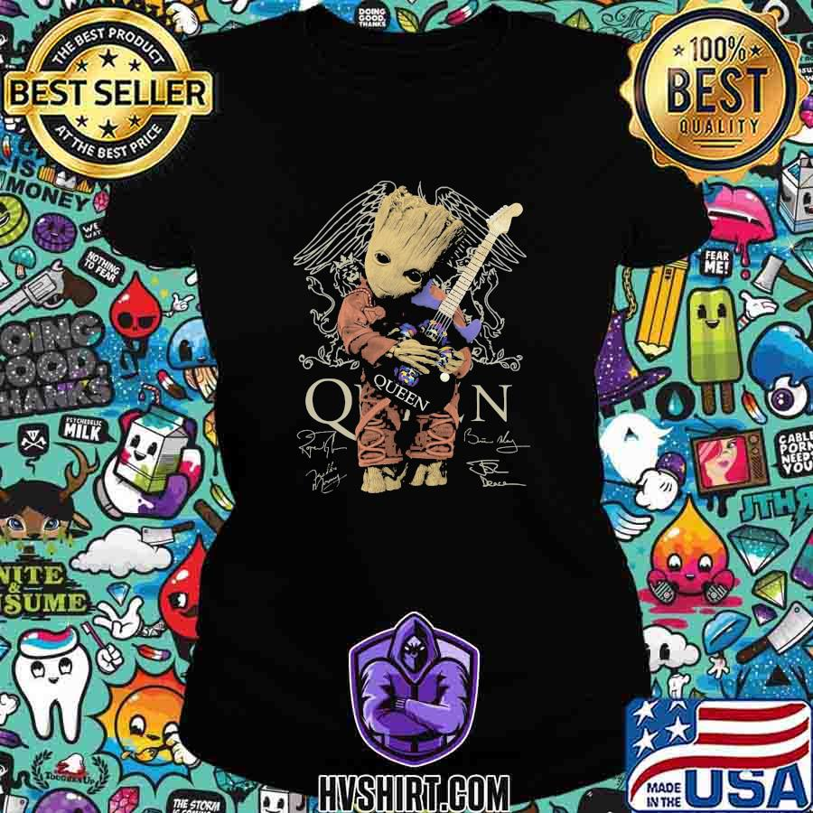 Baby groot hug guitar queen band signatures s Ladiestee