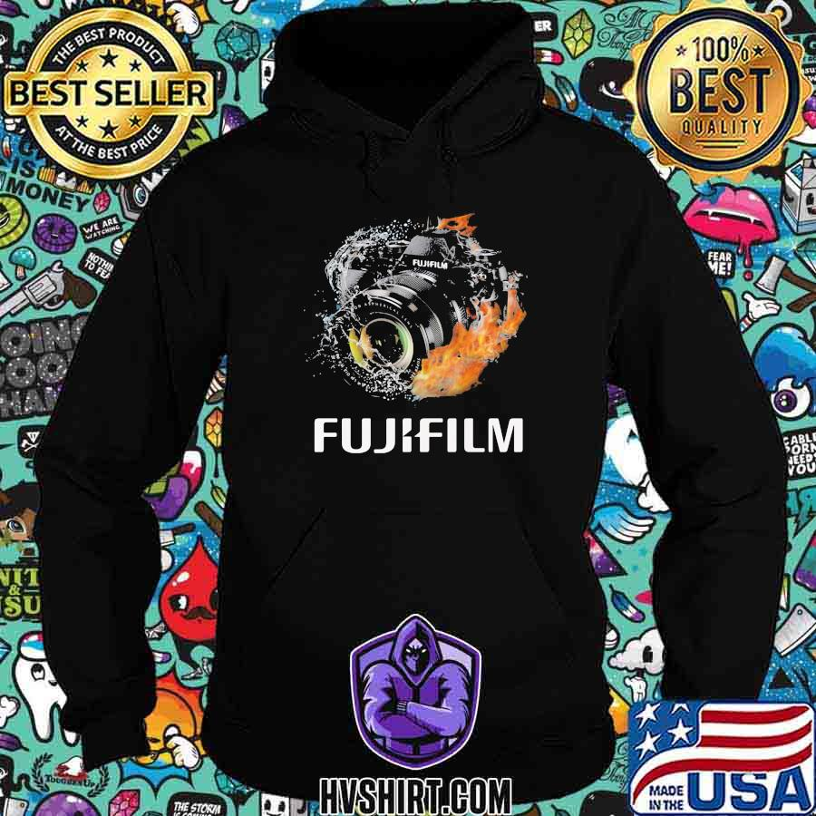 Camera fujifilm logo fire shirt