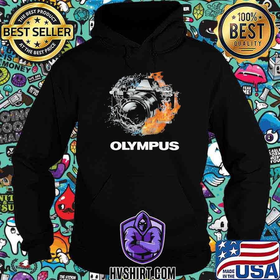 Camera olympus logo fire shirt