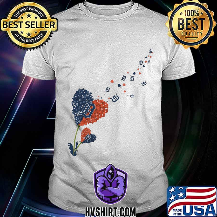 Dandelion flower heart detroit tigers logo shirt