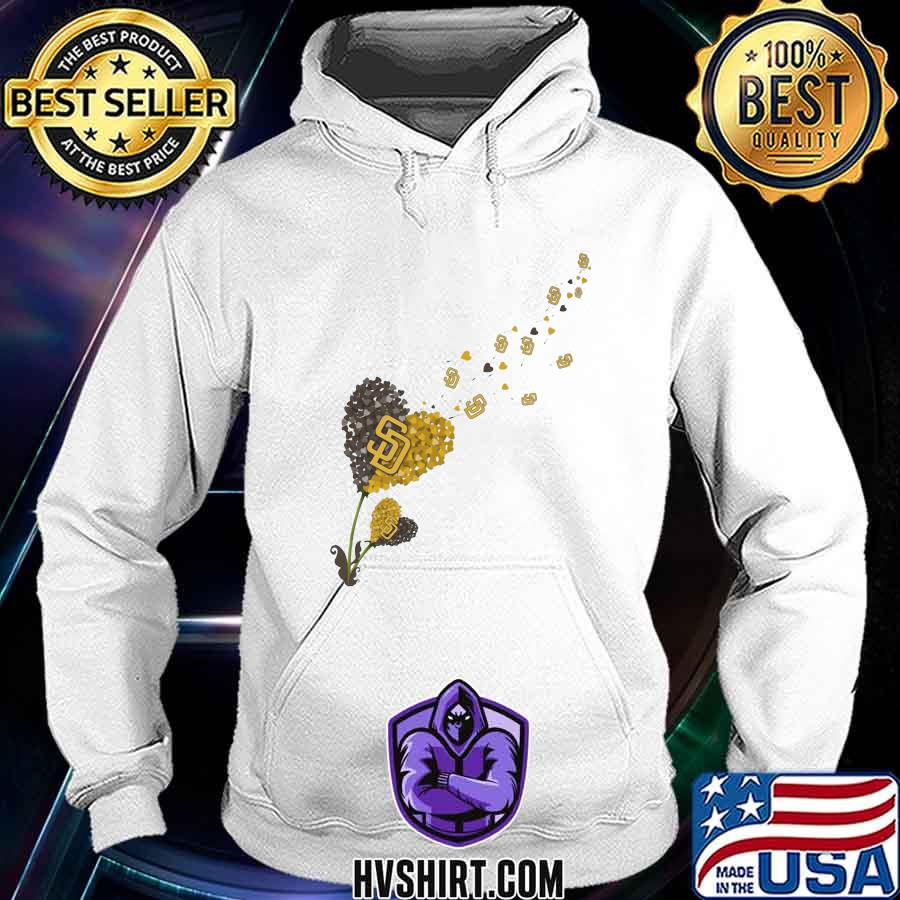 Dandelion flower heart san francisco giants logo s Hoodie