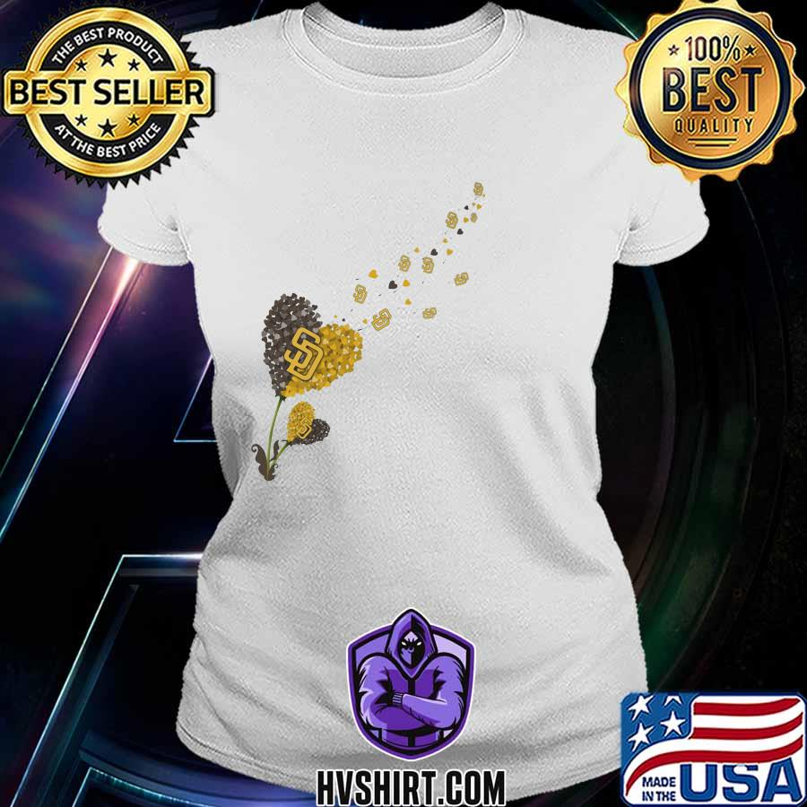 Dandelion flower heart san francisco giants logo s Ladiestee