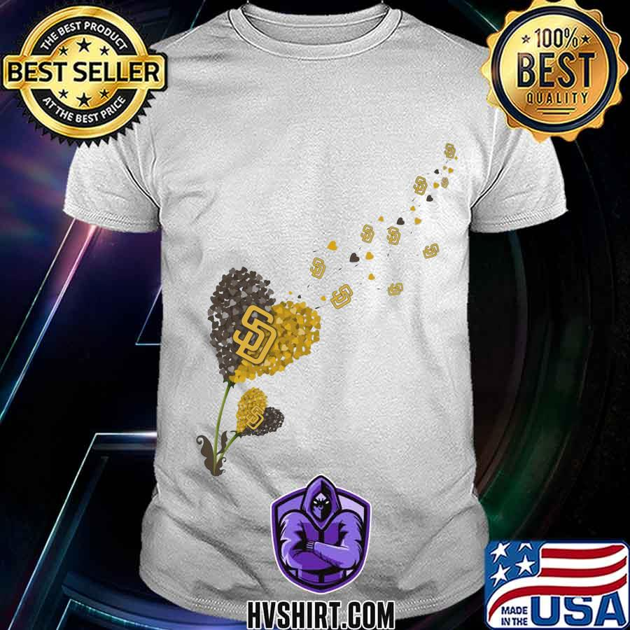 Dandelion flower heart san francisco giants logo shirt
