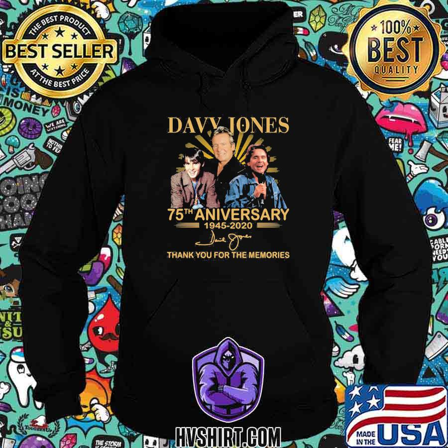 Davy jones 75th anniversary 1945 2020 thank for the memories signature shirt