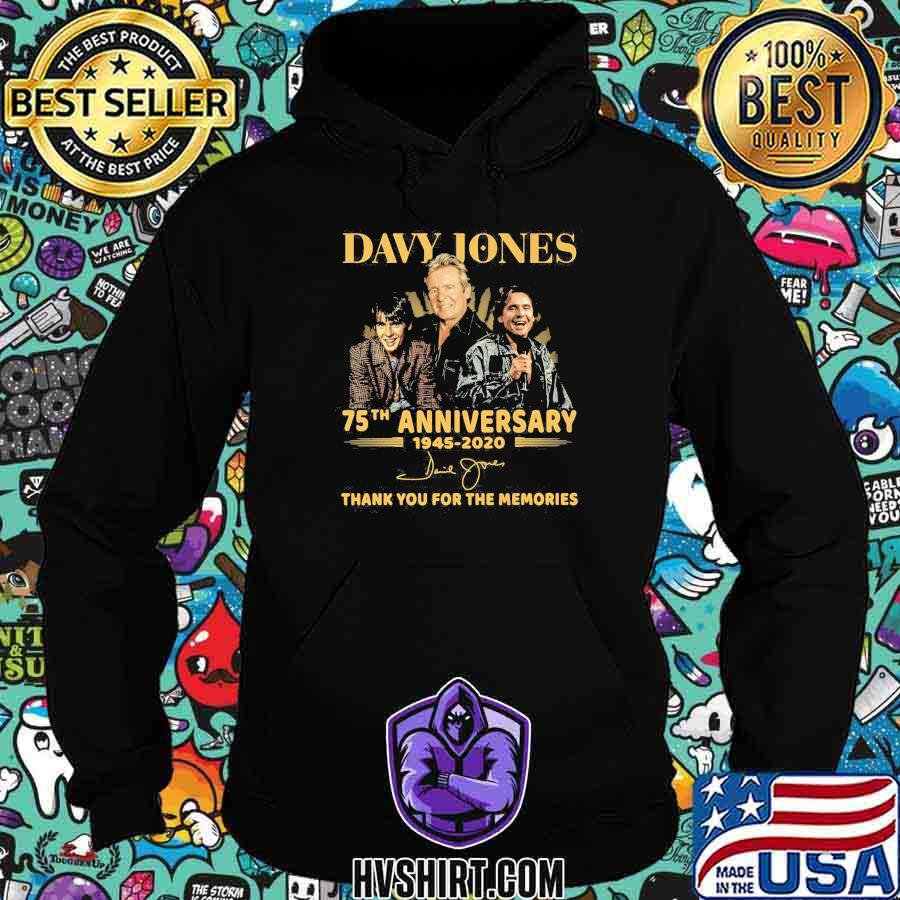 Davy jones 75th anniversary 1945 2020 thank for the memories signatures shirt