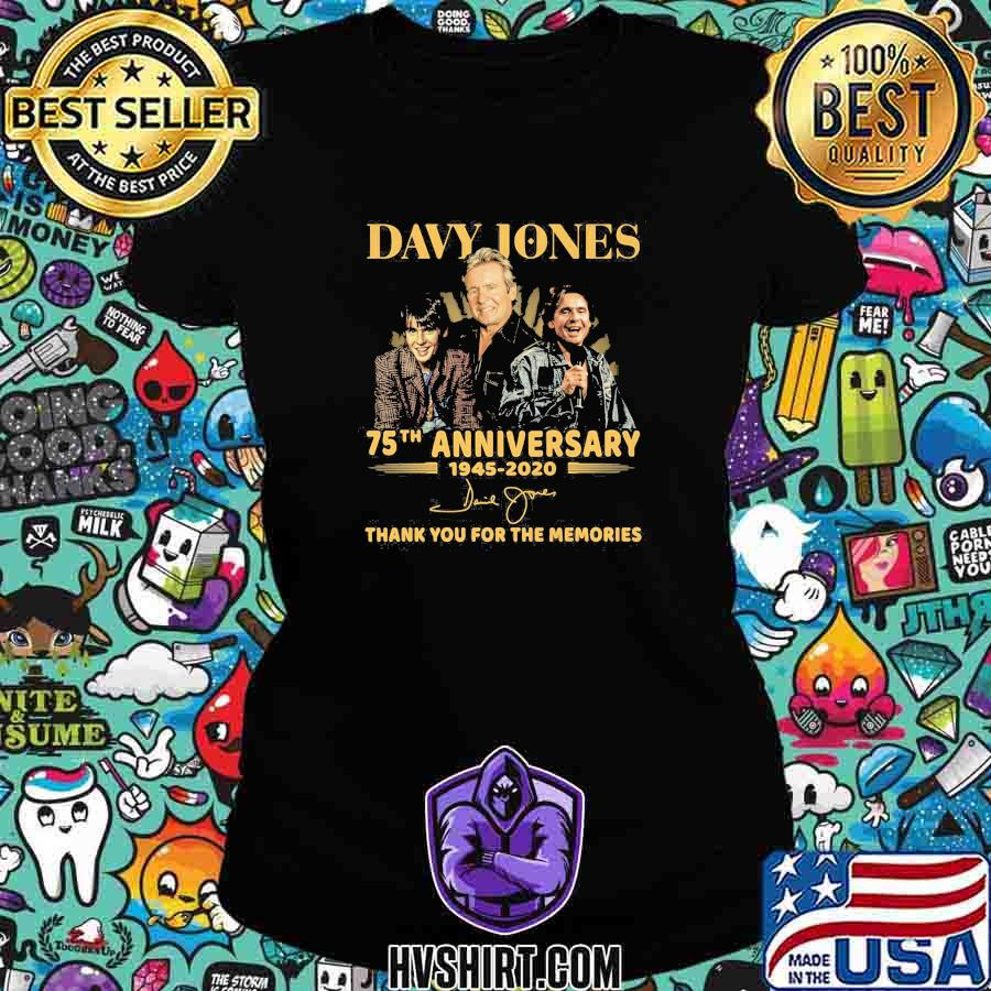 Davy jones 75th anniversary 1945 2020 thank for the memories signatures s Ladiestee