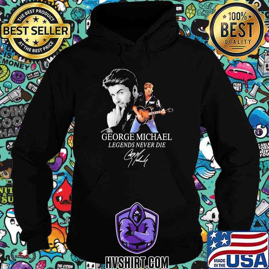 George michael legends never die signature guitars shirt