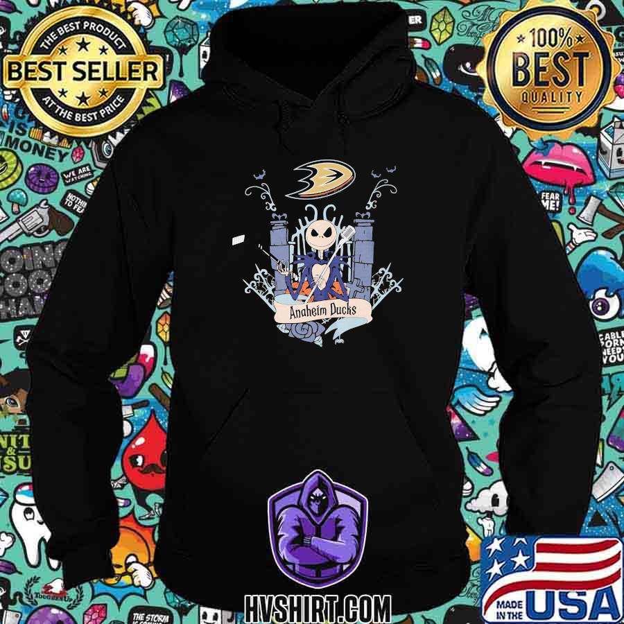 Halloween jack skellington anaheim ducks shirt