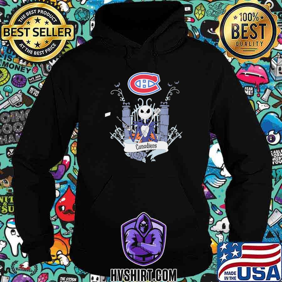 Halloween jack skellington montreal canadiens shirt