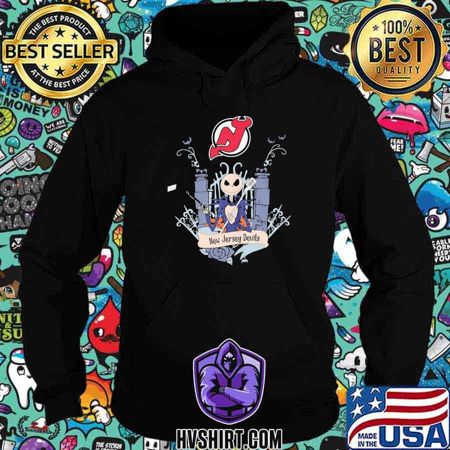 Halloween jack skellington new jersey devils shirt
