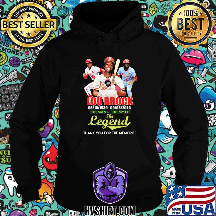 Lou brock 1939 2020 the man the myth the legend thank for the memories shirt