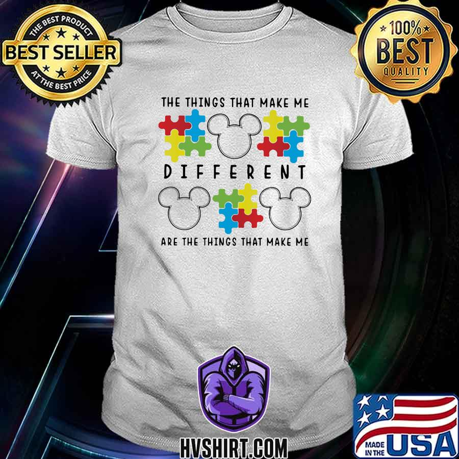 Mickey mouse autism the things that make me different are the things that make up shirt
