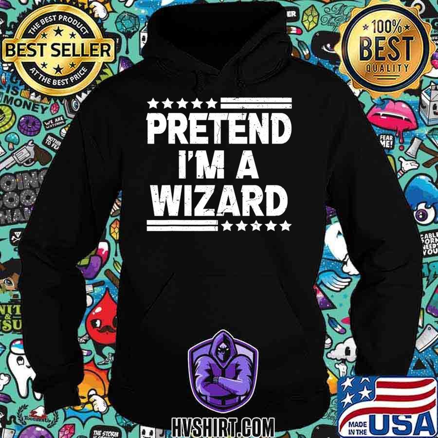Pretend I'm A Wizard Costume Funny Lazy Halloween T-Shirt