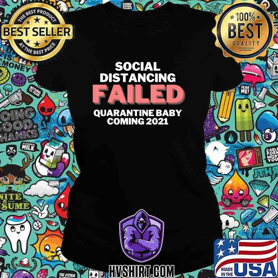 Quarantine Baby Announcement coming 2021 T-Shirt Ladiestee