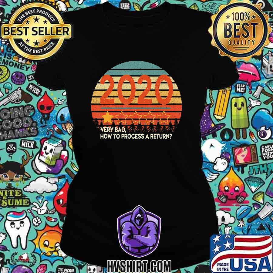 Retro Vintage Sunset 2020 Very Bad How To Process a Return T-Shirt Ladiestee