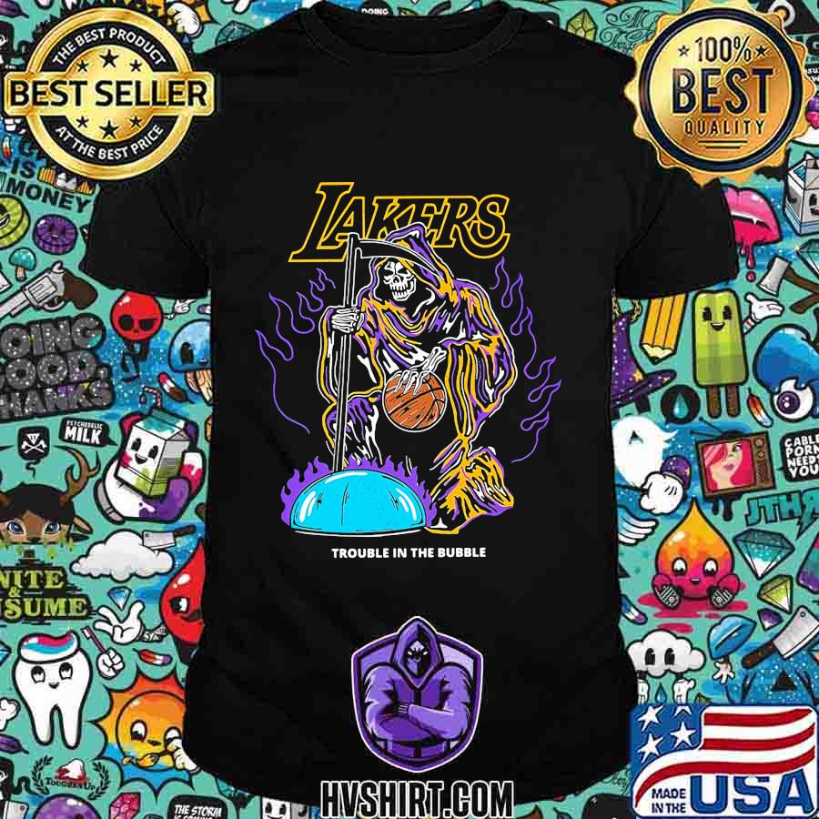 Skeleton death los angeles lakers trouble in the bubble shirt