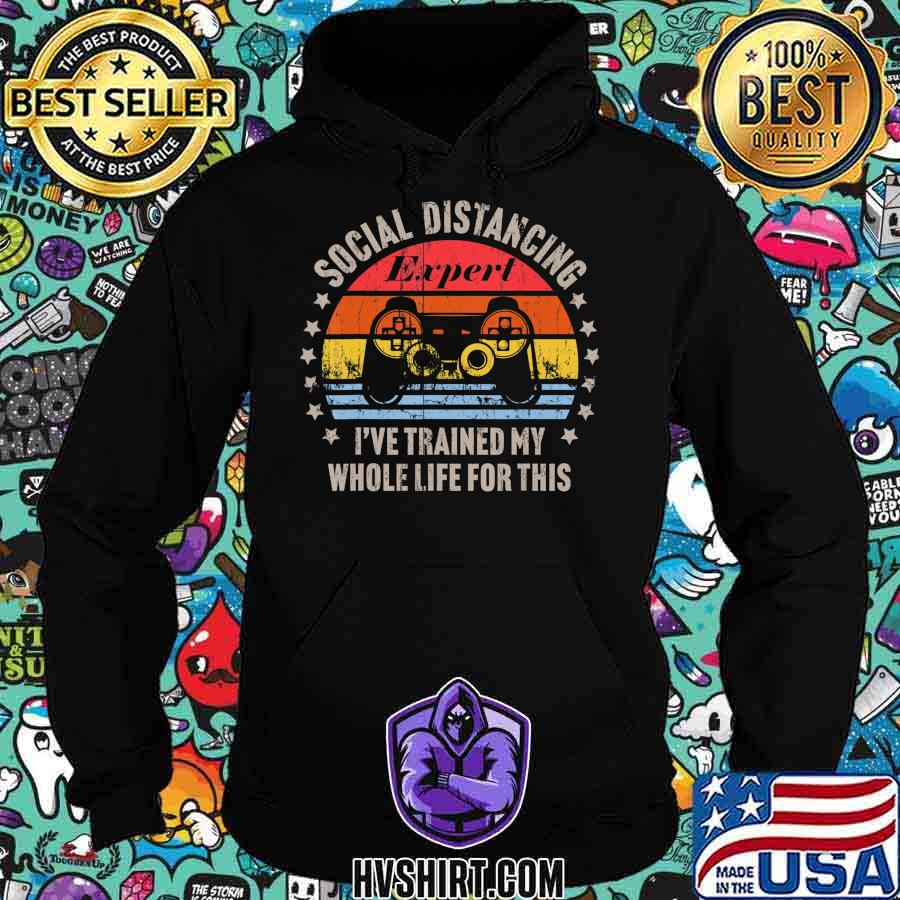 Social Distancing Expert Video Gamer Gaming Vintage Gift T-Shirt