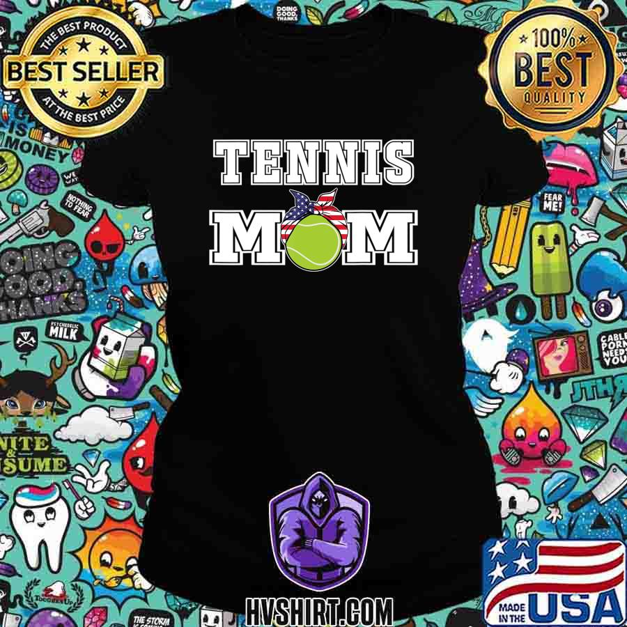 'Tennis Mom' Girls Gift for Mothers of Womens Tennis Players T-Shirt Ladiestee