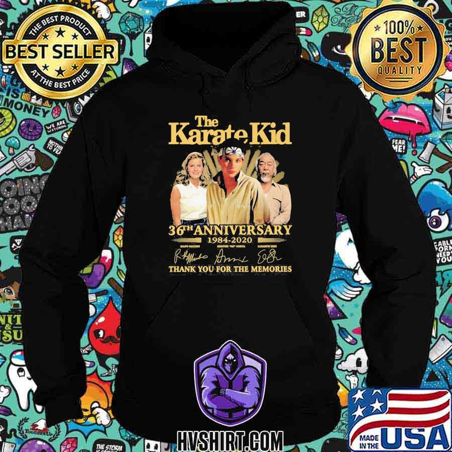 The karate kid 36th anniversary 1984 2020 thank for the memories signatures shirt