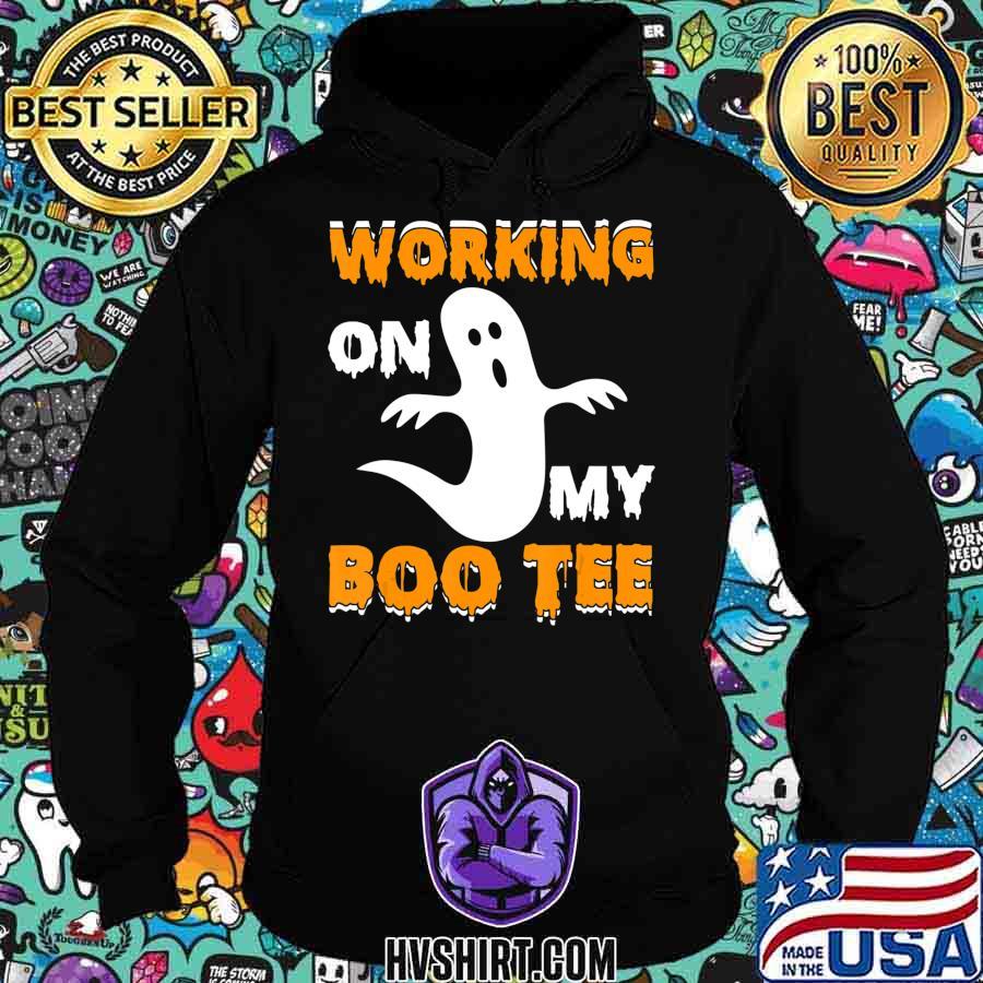 Working on My Boo Tee Funny Boo Halloween Gift T-Shirt