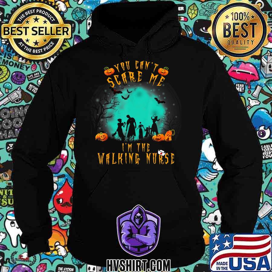 You Can't Scare Me I'm The Walking Nurse Halloween Nurse T-Shirt