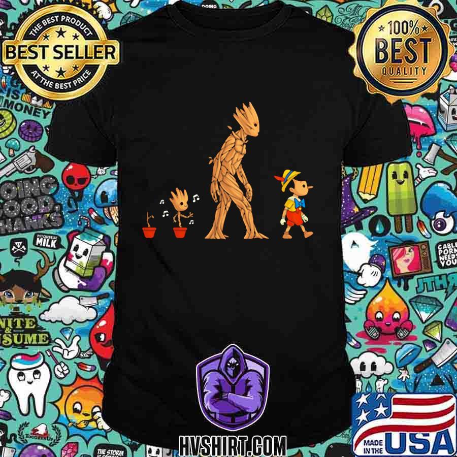 Baby groot wooden man shirt