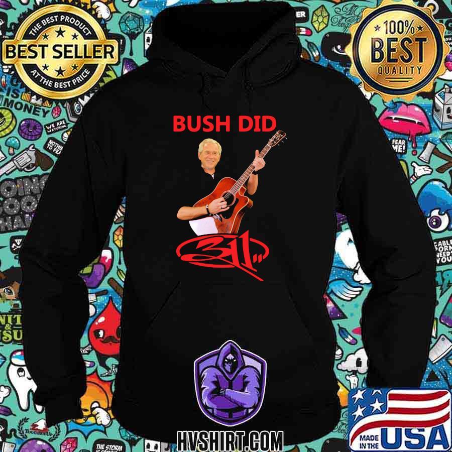 Bush did playing guitar shirt