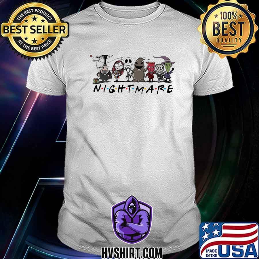 Halloween nightmare characters cartoon shirt