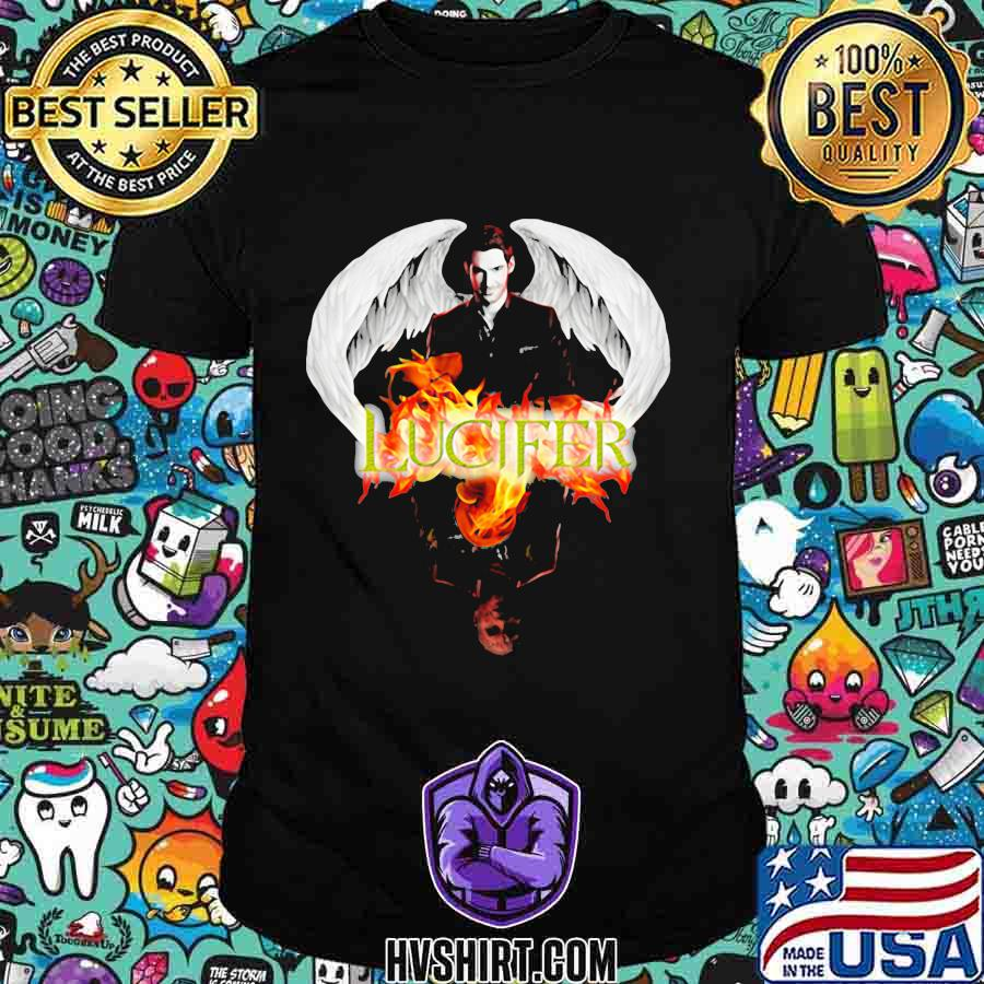 Lucifer wings water reflection shirt
