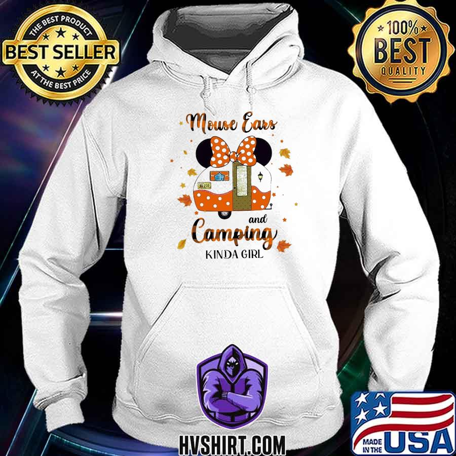 Minnie mouse ears and camping kinda girl leaves s Hoodie