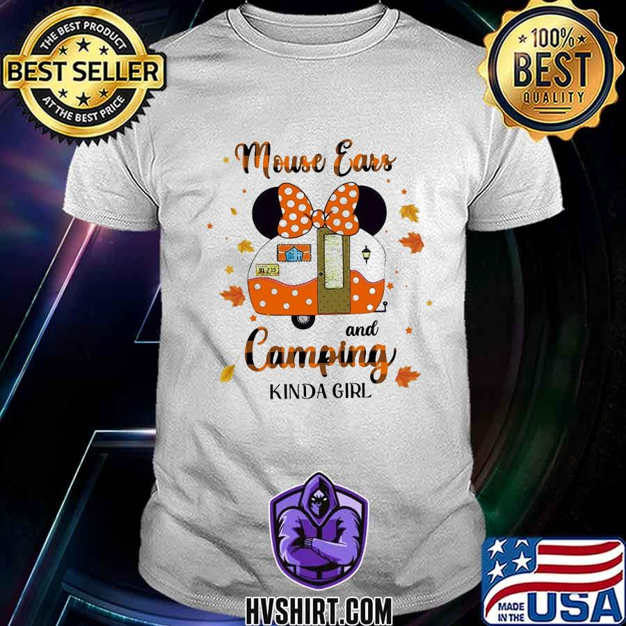 Minnie mouse ears and camping kinda girl leaves shirt