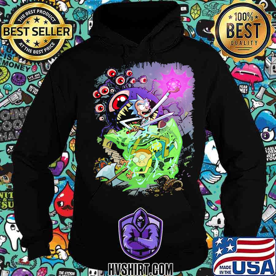 Rick and morty monster d&d game s Hoodie