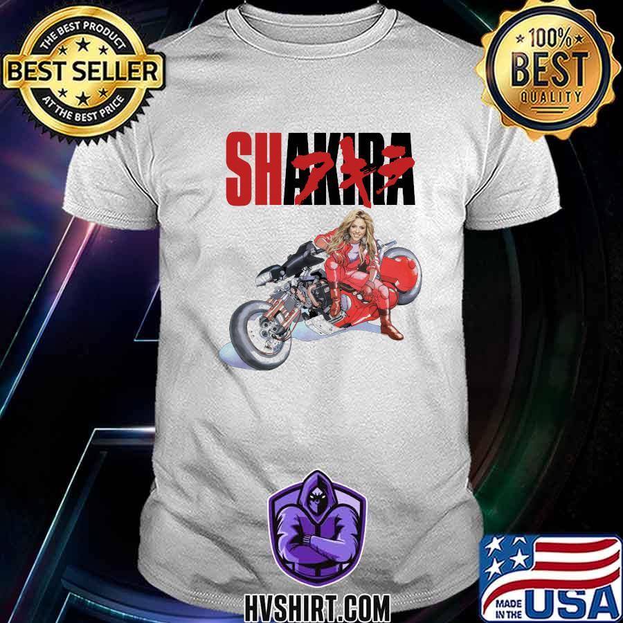 Shakira singer riding motorcycle short