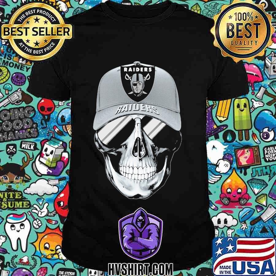 Skull oklahoma raiders football shirt